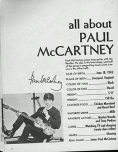 """nowhere-girl-in-pepperland: """"All about Paul John George Ringo  """""""