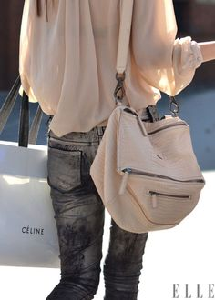 Street Chic: Paris  Tones to try: pale pink and steel grey  Photo: Courtney D'Alesio