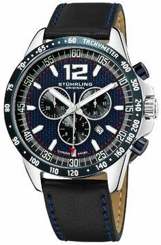 Stuhrling Original Men's 210A2.33U56 Octane Concorso Corale Swiss Quartz Chronograph Tachymeter Date Blue Dial Watch Stuhrling Original,http://www.amazon.com/dp/B006ZMTNW8/ref=cm_sw_r_pi_dp_klhUrbCE45F8458F