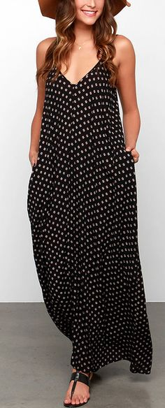 Yours Tule Black Floral Print Maxi Dress