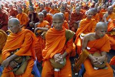 Cambodian Buddhist monks celebrate Vesak Day in Oudong, north Cambodia, May 8, 2009. Vesak Day is held to honour the birth, enlightenment and death of Buddha more than 2,000 years ago. (Reuters)
