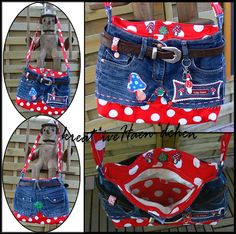 old Jeans upcycling sew Tasche kreat*iveHaen*dchen