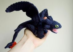 Dragon Toothless ... by Kseniczka | Crocheting Pattern - Looking for your next project? You're going to love Dragon Toothless Crochet Amigurumi by designer Kseniczka. - via @Craftsy