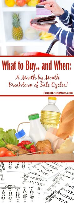 Do you know which items are on known for being on sale each month? Believe it or not, there is a formula for What to Buy. Certain products go on sale at certain times of the year. Save Money On Groceries, #SaveMoney
