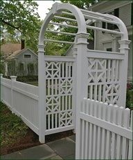 Chippendale side panels on this arbor