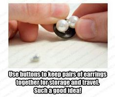 Earring storage- cute tip for studs and travel