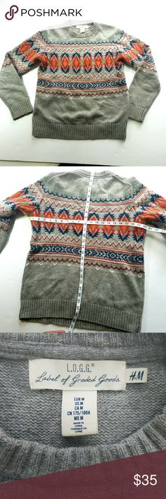 """ACCEPTING 30% OFF OFFERS"" SALE [H&M] Printed Sweater H&M L.O.G.G Printed Sweater  Men's Size M H&M Sweaters"