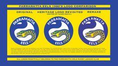 Parramatta Eels Logo Comparison by Sunnyboiiii Rugby League, 1980s, Logos, Anos 80, A Logo