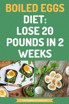 If you want to lose the extra weight fast, then this diet which has boiled eggs as a main meal can be of great benefit to you...