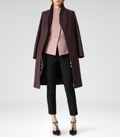 Womens Shell Pink Fitted Fishtail Jacket - Reiss Pinot