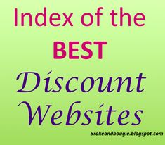 List of best discount sites for clothes, workout wear, shoes, jewelry, and travel