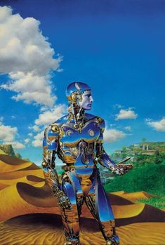 "CONSTRUCT OF TIME""   by Donato Giancola  (1993, oil on paper, mounted on masonite)"