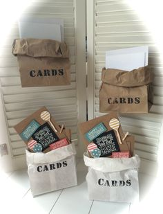 "A set of cards in a paper bag - ""Balloon Bash"" and ""Big Day"" stamp sets - Stampin' Up!"