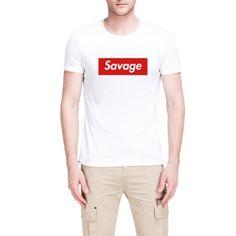 Mens Savage Design Casual T-Shirt #boyz #man #boyznman #clothing #brand #clothingbrand #mensfashion #tshirt #sweatshirt #hoodie #style #ad