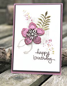 Birthday card made with Stampin' Up! Timeless Textures Botanical Blooms All items from www.zoetant.stampinup.net #stamping #birthdaycards #handmade