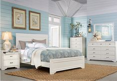Belcourt White 7 Pc Queen Panel Bedroom . $1,127.99. Find affordable Bedroom Sets for your home that will complement the rest of your furniture.