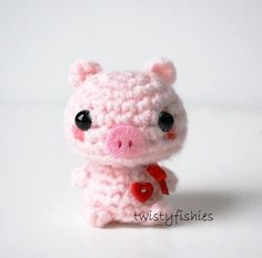 SALE - Baby Pink Piglet - Kawaii Mini Amigurumi Plush