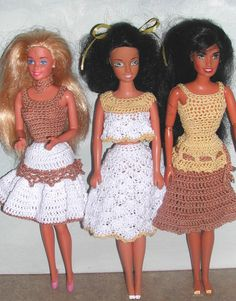 Häkeln Sie Mode Puppe Barbie Pattern  587 von JudysDollPatterns