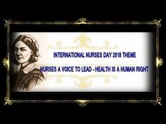 International Nurses Day 2018 Theme Nurses A Voice To Lead – Health Is A Human Right Community Health Nursing, Mental Health Nursing, Medical Surgical Nursing, Nurses Day, Kids Health, Human Rights, The Voice, Children, Youtube