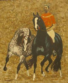 Ludwik Antoni Maciąg (1920-2007), malarz polski 'Ranny koń'