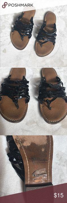 Sam Edelman black gardenia sandal Still has some life in them. A simple black strap sandal. SE Boutique by Sam Edelman Designs Shoes Sandals