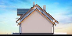 DOM.PL™ - Projekt domu DN KARMELITA BIS 2M CE - DOM PC1-47 - gotowy koszt budowy Solar Panels, House Plans, Cabin, House Styles, Outdoor Decor, Home Decor, Country Houses, Sun Panels, Decoration Home