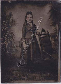 Victorian Girl - Antique Tintype Photo