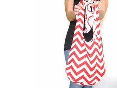 Chevron Purse Cross Body Hobo Bag Over by SmiLeaGainCreations, $40.00