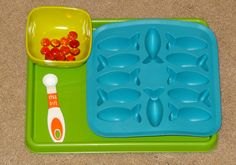 Ocean Montessori trays - feed the fish practical life activity || Gift of Curiosity