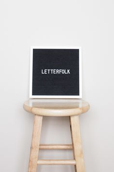 """The Poet is a 10"""" x 10"""" letter board handcrafted for versatility. It's ideal for being displayed on a wall, leaned on a side table, or used as a photo prop."""