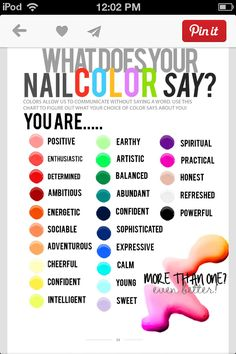 What nail colors say