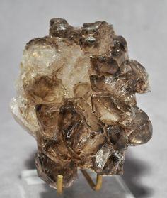 Smoky Quartz .82 lb Elestial Natural Crystal Specimen-Brazil  $126.00 Natural Crystals, Stones And Crystals, Smoky Quartz, Brazil, Gems, Rustic, Brown, Country Primitive, Gemstones