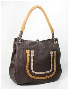 Boho Brown Tan Leatherette Purse
