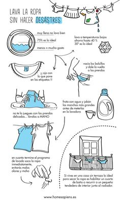 Wash clothes without disasters . - Home Cleaning House Cleaning Tips, Cleaning Hacks, Home Sapiens, Clean Up Day, How To Fold Towels, Crochet Christmas Decorations, Konmari, Home Hacks, Creative Home