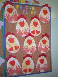 Estas foram as galinhas que fiz com os meus meninos o corpo da galinha foi feito com a técnica da carimbagem com plástico de bolinhas e as p. Easter Arts And Crafts, Egg Crafts, Bunny Crafts, Easter Crafts For Kids, Spring Crafts, Toddler Crafts, Crafts For Teens, Farm Theme Crafts, Farm Animal Crafts