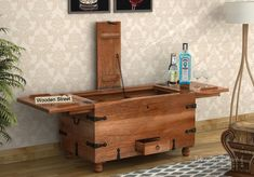 Style your home with modern classy Bar Cabinets! Inspired by mid-century period WoodenStreet's which appears to be trunk box like takes the decor of your home to a different level with its antique look. Living Room Furniture, Home Furniture, Wooden Street, Bathtub Shower, Industrial Chic, Home Interior Design, Teak, Room Decor, India