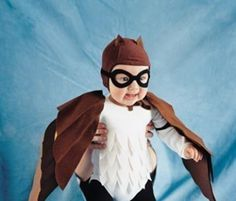 Owl costume for halloween made it pinterest owl costumes and give a fledgling aviator wings in the form of a felt owl costume contoured brown and white feathers made by cutting and creasing the fabric solutioingenieria Images