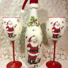 Christmas wine bottle crafts bottle crafts easy Easy DIY Dollar Store Christmas Decorating Ideas for Living Room – Wine Bottle Crafts Christmas Wine Bottles, Dollar Store Christmas, Christmas Crafts, Christmas Decorations, Cheap Christmas, Christmas Glasses, Cheap Holiday, Christmas Candle, Christmas Ideas