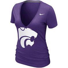 Nike K-State Wildcats Deep V T-Shirt