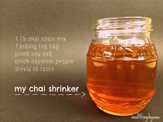 Chai Shrinker (FP) This is my tweek on the Trim Healthy Mama 'Shrinker' drink. Serve hot or chilled.