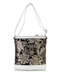 This White Floral Sequin Crossbdody Bag by Diophy is perfect! #zulilyfinds