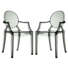 Casper Ghost Dining Armchairs Set of 2