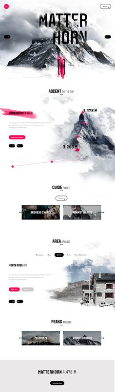 Website Inspiration 2018 - Matterhorn Website Design