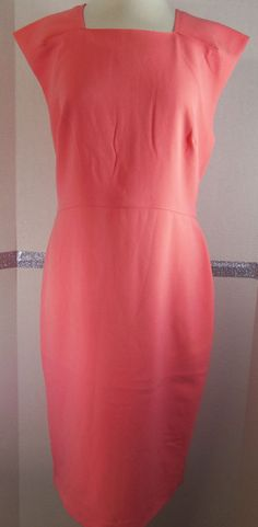 Banana Republic Dress size Sheath Peach Polyester Blend NWT #BananaRepublic #Sheath #WeartoWork