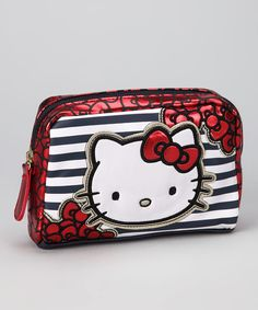 Black Stripe Hello Kitty Coin Purse:::