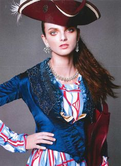 Photographed by Felix Cooper & styled by Carine Roitfeld, the December 2015 issue of Harpers Bazaar features a shoot entitled 'Pirates & Princesses' which styles Worlds End Shop items with other designer pieces