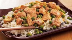 Asian dinner ready in 10 minutes! Enjoy this flavorful curry made with chicken and Green Giant® Valley Fresh Steamers™ peas served over rice.