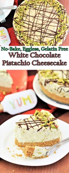 White Chocolate Pistachio Cheesecake recipe can be made under 20 minutes. Even kids can easily make this cheesecake. No, I am serious. Kids can also make this. You don't have to turn your oven on to enjoy a slice of one of your favorite desserts.