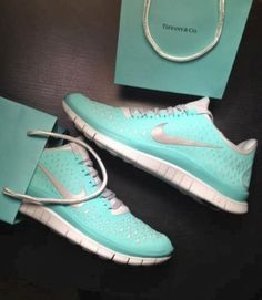 Lovely mint tiffany co nikes sport shoes