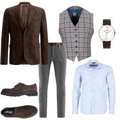 Gilet a quadri  outfit uomo Casual per ufficio  95b017d3220